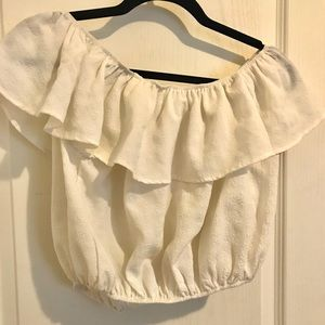 Urban outfitters off the shoulder ruffle top